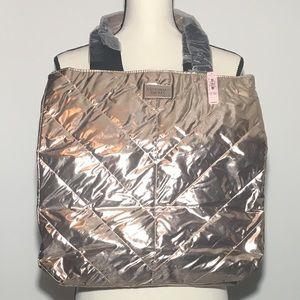 Rose Gold Victoria's Secret Tote Bag NWT